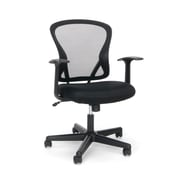 Essentials by OFM Swivel Mesh Back Task Chair with Arms, Mid Back, Black, (ESS-3011)