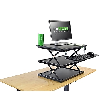 Uncaged Ergonomics Changedesk Adjustable Height Standing Desk Riser