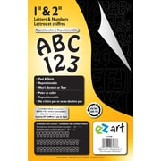 """Ez Art Peel and Stick Combo Pack - 1"""" & 2"""" Black Letters and Numbers, 172 characters"""