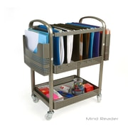 Mind Reader Heavy Duty Metal Mobile File Cart, Silver (MFILEC-SIL)