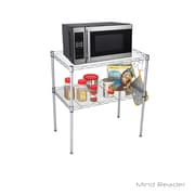 Mind Reader Microwave Oven Rack Shelving Unit, Silver (COUMIC2T-SIL)