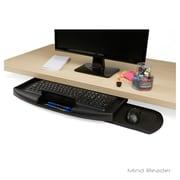 Mind Reader Under Desk Keyboard Holder with Closable Writing Utensil Compartment, Black (UNDKEYB-BLK)