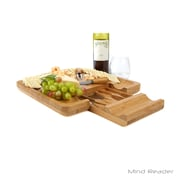 Mind Reader Bamboo Cheese Board with Cutlery Set (CHEESEBM-BRN)