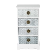 Mind Reader Wooden Drawer Storage Chest, White (4DRESS-WHT)