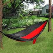 "Mind Reader Camping Hammock, 96"" L x 50"" W, Red/Black (SHAM270-BLU)"