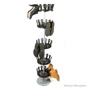 Mind Reader 5 Tier Revolving Shoe Rack Stand, Free Standing Shoe Organizer, Black (5TSHOERACK-BLK)