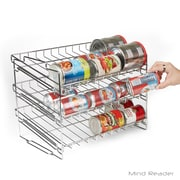 Mind Reader Stackable Can Rack Organizer, Pantry Organizer, Silver (CANRACK-SIL)