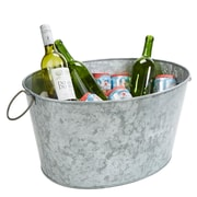 Mind Reader Galvanized Ice Bucket Tub, Silver (ITUB-SIL)