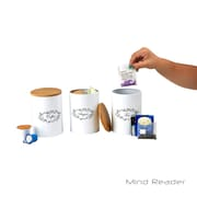 Mind Reader 3-Piece Metal Canister Set, White (URBCAN3-WHT)