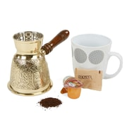 Mind Reader Coffee Pot with Handle, Gold (BRCPOT-GLD)