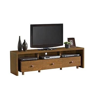 Techni Mobili - Support élégant de téléviseur, avec espace de rangement, pour téléviseur de 75 po max., noyer (RTA-8895-WAL)