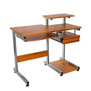 Techni Mobili Complete Computer Workstation Desk, Woodgrain (RTA-2706A-WG01)
