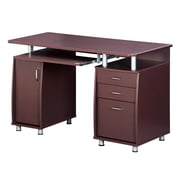 Techni Mobili Complete Workstation Computer Desk with Storage, Chocolate (RTA-4985-CH36)