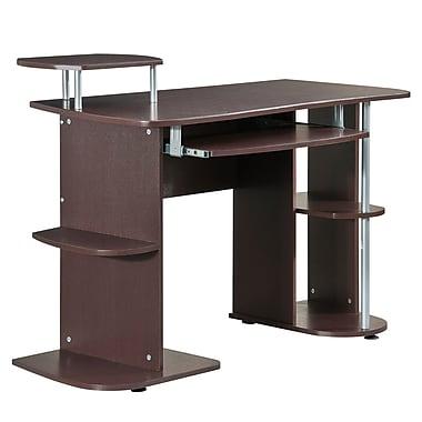 Techni Mobili Complete Computer Workstation Desk with Storage, Chocolate (RTA-8104-CH36)