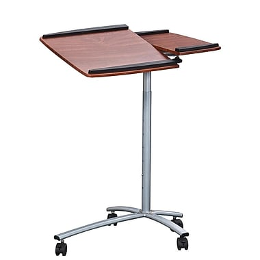 Techni Mobili Sit-to-Stand Rolling Adjustable Laptop Cart, Mahogany (RTA-B001N-M615)
