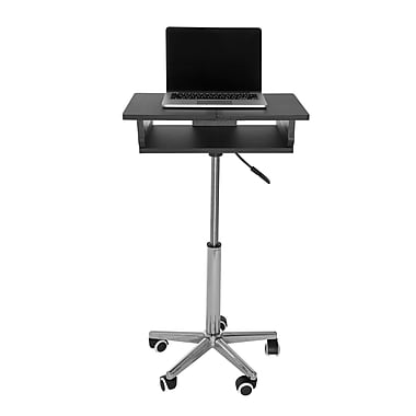 Techni Mobili - Chariot pour portatif avec table pliante, graphite (RTA-B006-GPH06)