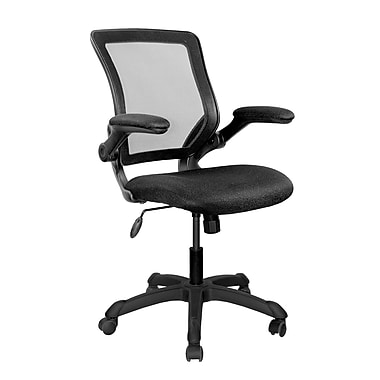 Techni Mobili Mesh Task Office Chair with Flip-Up Arms, Black (RTA-8050-BK)