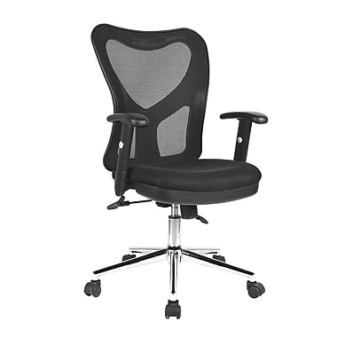 TechniMobili Mesh Computer and Desk Office Chair, Fixed Arms, Black (RTA-0098M-BK)