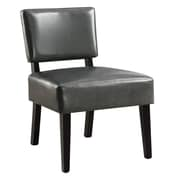 Monarch I 8285 Fabric Accent Chair, Charcoal Grey Leather-Look