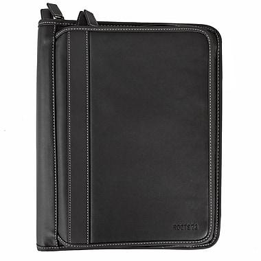 RootsMD – Cartable de luxe avec 2 fermetures à glissière, noir