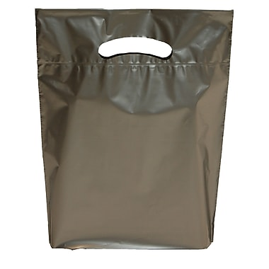 Marlo Packaging 12 x 16 x 3 Silver D/C Bag, Biodegradable, 500/Pack