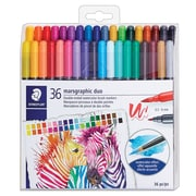 Staedtler® Dual Tip Water-soluble Markers, 36/Pack