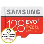 Samsung - Carte mémoire EVO+ MB-MC128DA/CA MicroSDXC 128 Go avec adaptateur (boîte ouverte)