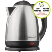 Brentwood BTWKT1780 1.5L Stainless Steel Electric Cordless Tea Kettle, Brushed Finish (Open Box)
