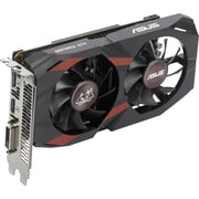 Asus CERBERUS-GTX1050-O2G GeForce GTX 1050 Graphic Card, 1.43 GHz Core, 1.54 GHz Boost Clock, 2 GB GDDR5