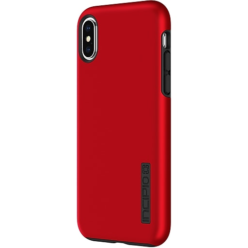new products 56469 f8f7b Incipio DualPro The Original Dual Layer Protective Case for iPhone X  (IPH-1629-RBK)