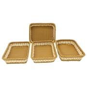Cathay Importers 2-Tone Resin Rectangular Tray