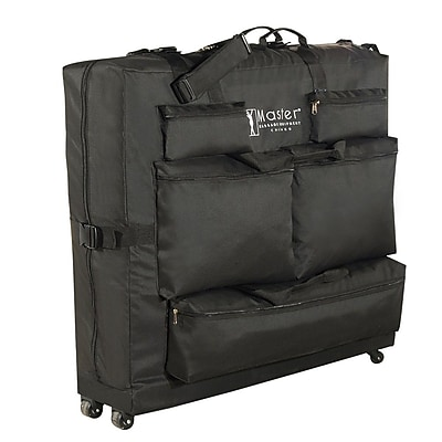 Master Massage® Universal Wheeled Carrying Case, Black