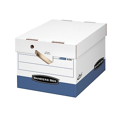 Bankers Box Presto™ Letter/Legal Storage Box with Ergonomic Handles, 3/Pack