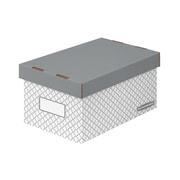 Bankers Box EZ-STOR Medium Storage Box, Grey Trellis, 2/Pack