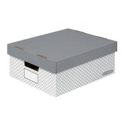 Bankers Box EZ-STOR Large Storage Box, Grey Trellis, 2/Pack