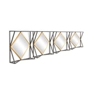 Squre Frame With Diamond Mirrors, 4/Pack (7808-AM6783-MR)