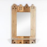Building Wall Mirror With 4 Hooks (7168-AM5357-MR)