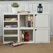 Way Basics Eco Stackable Connect Storage Cube with Door, White - Lifetime Guarantee