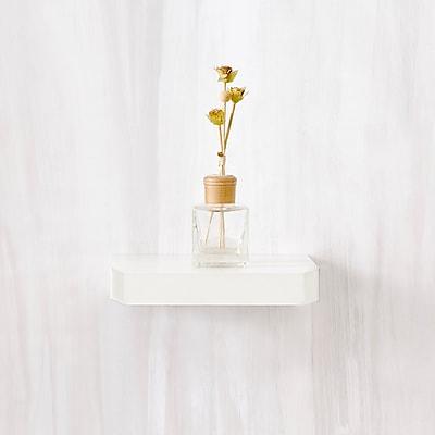 "Way Basics 9.8""W x 1.6""H Uniq Floating Wall Shelf and Modern Decorative Eco Shelf, White (WS-10-WE)"