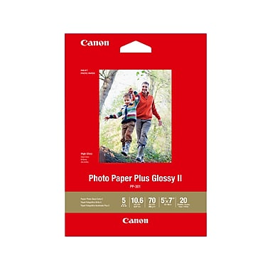 Canon Pp 301 Photo Paper Plus Glossy Ii 5 X 7 20 Sheetspack