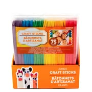 Horizon Group USA Coloured Wood Craft Sticks, 75/Pack (63546PDQ)