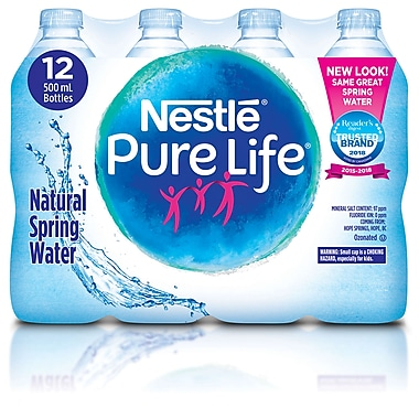 f24d641632 Nestle Pure Life Natural Spring Water, 500ml, 12/Pack | Staples