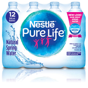 Nestlé – Eau de source naturelle Pure Life, 500 ml, paq./12
