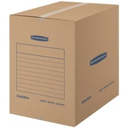 "Bankers Box SmoothMove Basic Moving Boxes, Large, 18"" x 18"" x 24"", 7/Pack (7714002)"