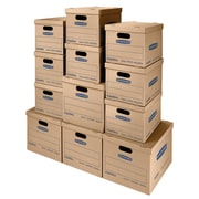 Bankers Box SmoothMove Classic Moving Kit, Assorted Boxes, 12/Pack (7716401)