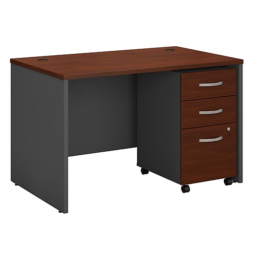 Bush Business Furniture Westfield 48w X 30d Office Desk W Mobile File Cabinet Hansen Cherry Src048hcsu