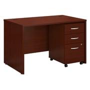 Bush Business Furniture Westfield 48W x 30D Office Desk with Mobile File Cabinet, Mahogany (SRC048MASU)