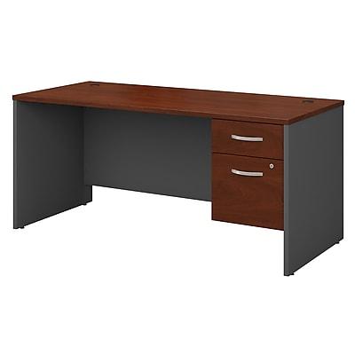 Bush Business Furniture Westfield 66W x 30D Office Desk with 3/4 Pedestal, Hansen Cherry (SRC071HCSU)