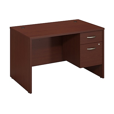 Bush Business Furniture Westfield 48W x 30D Desk with 3/4 Pedestal, Mahogany (SRC067MASU)
