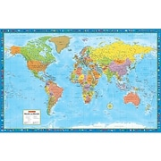 MapArt World Laminated Rolled Wall Map
